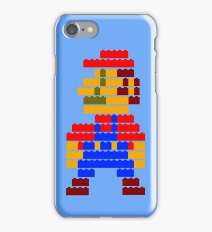 8-bit brick mario  iPhone Case/Skin