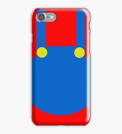 Mario Dungaree Print iPhone Case/Skin