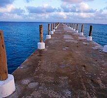 Jetty At Sunrise by Sami Sarkis