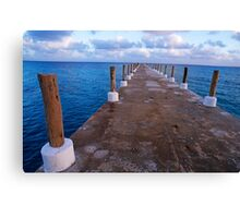 Jetty At Sunrise Canvas Print