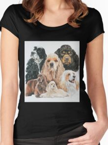American Cocker Spaniel Women's Fitted Scoop T-Shirt