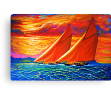 Golden Sails Canvas Print