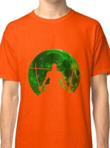 one piece straw hat roronoa zoro moon anime manga shirt Classic T-Shirt
