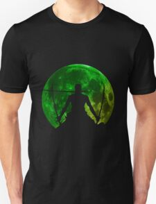 one piece straw hat roronoa zoro moon anime manga shirt T-Shirt