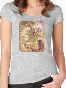 Silver Ivy, Surreal Nature Women's Fitted Scoop T-Shirt