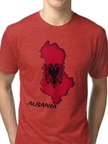 Zammuel's Country Series - Albania (English text) Tri-blend T-Shirt