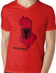 Zammuel's Country Series - Albania (English text) Mens V-Neck T-Shirt