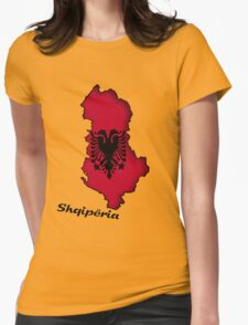 Zammuel's Country Series - Albanian (Albanian text) Womens Fitted T-Shirt