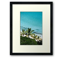 Palm Trees Against Cristal Blue Water Framed Print