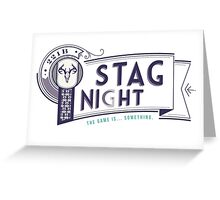 221B Stag Night Greeting Card