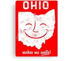 Ohio Makes Me Smile! Cool Vintage Retro Tee Canvas Print