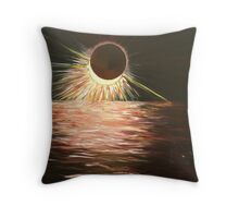 The eclipse Throw Pillow