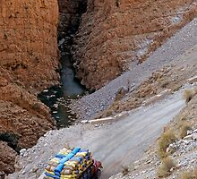 Heavy Loaded Truck In The Valley by Sami Sarkis
