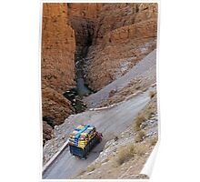 Heavy Loaded Truck In The Valley Poster