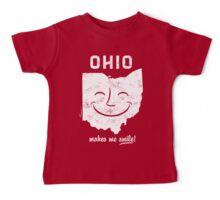 Ohio Makes Me Smile! Cool Vintage Retro Tee Baby Tee