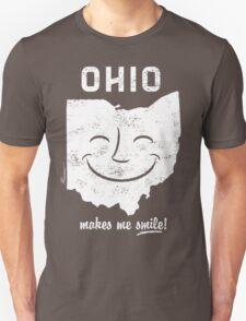 Ohio Makes Me Smile! Cool Vintage Retro Tee T-Shirt