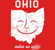 Ohio Makes Me Smile! Cool Vintage Retro Tee Unisex T-Shirt