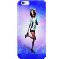 Fun girl, blue iPhone Case/Skin