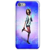Fun girl, blue iPhone Case/Skin