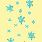 blue snow flakes iphone case by faithie