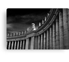 Saints Over Saint Peters Square Rome Canvas Print