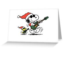 Snoopy Christmas Rock Greeting Card