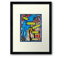 Ask Parrot by WhimsicalColorfulYou Framed Print