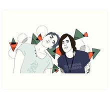 Back To The Future Hearts with Alex and Kellin Art Print