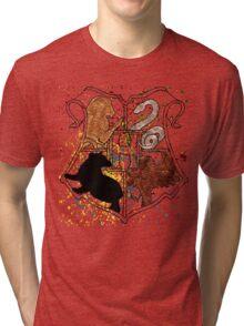 Hogwarts Splatter Crest Tri-blend T-Shirt