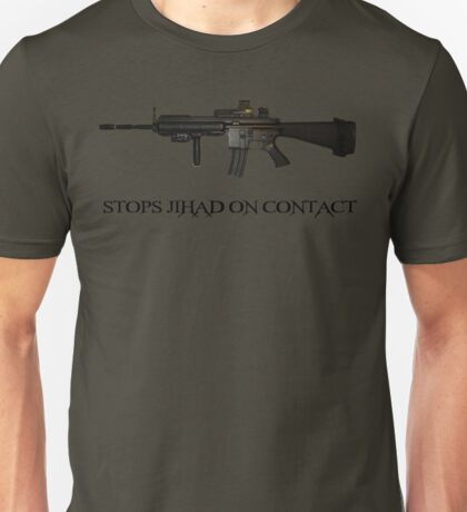 Stops Jihad on Contact - M4 Unisex T-Shirt