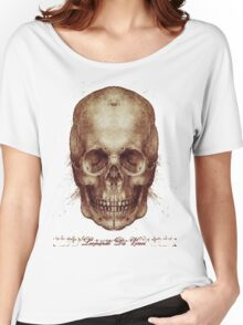 Leonardo Da Vinci Skull Women's Relaxed Fit T-Shirt
