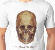 Leonardo Da Vinci Skull Fractal Unisex T-Shirt