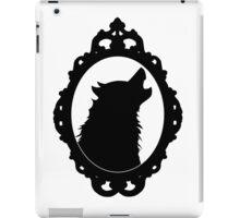 Halloween Art, Black Wolf Silhouette, Edgar Allan Poe, Wolfman, Werewolf, Horror iPad Case/Skin