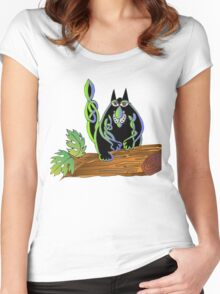 Celtic cat Women's Fitted Scoop T-Shirt