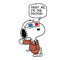 Snoopy Doctor Who Photographic Print