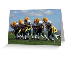 Gridiron Gang Greeting Card