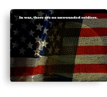 No Unwounded Soldiers Canvas Print