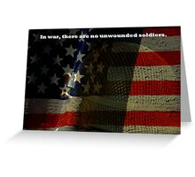 No Unwounded Soldiers Greeting Card