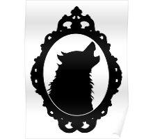 Halloween Art, Black Wolf Silhouette, Edgar Allan Poe, Wolfman, Werewolf, Horror Poster