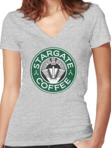 Stargate sg1 Coffee Women's Fitted V-Neck T-Shirt