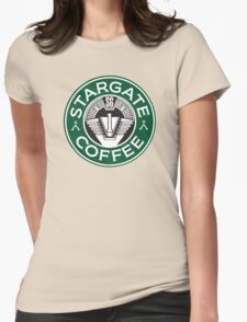 Stargate sg1 Coffee Womens Fitted T-Shirt