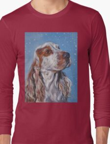 English Cocker Spaniel Fine Art Painting Long Sleeve T-Shirt