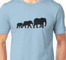 Walking With Elephants Unisex T-Shirt