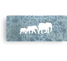 Walking With Elephants Canvas Print