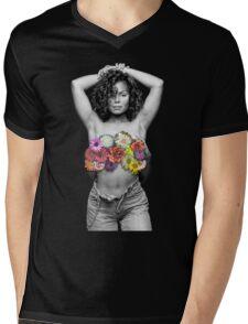 Retro. Mens V-Neck T-Shirt