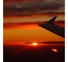 Sunset from the plane Photographic Print
