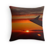 Sunset from the plane Throw Pillow