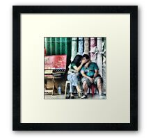 Secret kiss Framed Print