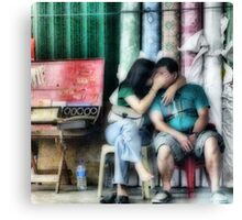 Secret kiss Canvas Print