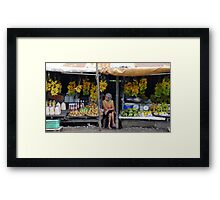Fruit stall, Tagaytay, Philippines Framed Print
